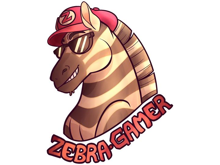 Zebra Gamer logo whitebackground 2 4 x 1 8 300 dpi